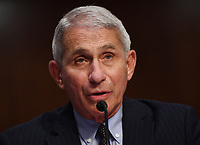 Dr. Anthony Fauci, director of the National Institute for Allergy and Infectious Diseases, testifies before the Senate Health, Education, Labor and Pensions (HELP) Committee on Capitol Hill in Washington DC on Tuesday, June 30, 2020.  Fauci and other government health officials updated the Senate on how to safely get back to school and the workplace during the COVID-19 pandemic. Credit: Kevin Dietsch/CNP/AdMedia