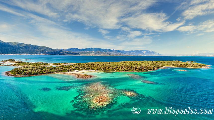 The small island Monolia at Lichadonisia complex in Evia island, Greece