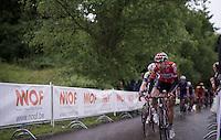 Thomas De Gendt (BEL/Lotto-Soudal) leading<br /> <br /> Belgian National Road Cycling Championships 2016<br /> Les Lacs de l'Eau d'Heure