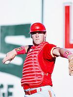 Ryan Luzinski of the Albuquerque Dukes before a game against the Las Vegas Stars during the 1996 baseball season at Cashman Field in Las Vegas, Nevada. (Larry Goren/Four Seam Images)