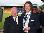 St Johnstone FC Player of the Year Awards...18.05.14<br /> Auchterarder Player of the Year Award to Stevie May presented by George Mallis<br /> Picture by Graeme Hart.<br /> Copyright Perthshire Picture Agency<br /> Tel: 01738 623350  Mobile: 07990 594431