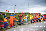 Local fans at the roadside during Stage 2 of the 2018 Artic Race of Norway, running 195km from Tana to Kjøllefjord, Norway. 17th August 2018. <br /> <br /> Picture: ASO/Rune Dahl | Cyclefile<br /> All photos usage must carry mandatory copyright credit (© Cyclefile | ASO/Rune Dahl)