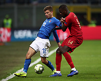 Football: Uefa Nations League Group 3match Italy vs Portugal at Giuseppe Meazza (San Siro) stadium in Milan, on November 17, 2018.<br /> Italy's Niccolò Barella (l) in action with Portugal's Luis Neto (r) during the Uefa Nations League match between Italy and Portugal at Giuseppe Meazza (San Siro) stadium in Milan, on November 17, 2018.<br /> UPDATE IMAGES PRESS/Isabella Bonotto<br /> <br /> UPDATE IMAGES PRESS/Isabella Bonotto