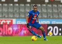 2nd February 2021; St James Park, Newcastle, Tyne and Wear, England; English Premier League Football, Newcastle United versus Crystal Palace; Jordan Ayew of Crystal Palace cuts outside on the ball