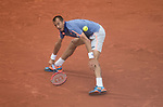 May 23, 2016:   Lucas Rosol (CZE) loses to Stan Wawrinka (SUI) 4-6, 6-1, 3-6, 6-3, 6-4, at the Roland Garros being played at Stade Roland Garros in Paris, .  ©Leslie Billman/Tennisclix/CSM