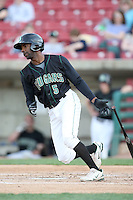 April 11 2010: Myrio Richard of the Kane County Cougars at Elfstrom Stadium in Geneva, IL. The Cougars are the Low A affiliate of the Oakland A's. Photo by: Chris Proctor/Four Seam Images