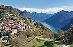Switzerland, Ticino, Mountain Village Monte Bre above Lago Lugano | Schweiz, Tessin, Bergdorf Monte Bre oberhalb des Luganer Sees