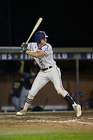 Zach Gelof (26) (UVA) of the High Point-Thomasville HiToms at bat against the Wilson Tobs at Finch Field on July 17, 2020 in Thomasville, NC. The Tobs defeated the HiToms 2-1. (Brian Westerholt/Four Seam Images)