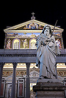 Saint Paul basilica in Rome.Pope Francis Celebration of the second vespers of Saint Paul basilica in Rome. January 25, 2016