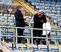 Photo: Richard Lane/Richard Lane Photography. Wasps v London Irish. Aviva Premiership. 21/12/2014. Wasps' first game at the Ricoh Arena as their new home. TV Crew.