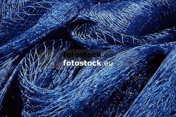 close up of blue fishing nets<br /> <br /> detalle de redes de pesca azules<br /> <br /> Nahaufnahme von blauen Fischernetzen<br /> <br /> 1870 x 1240 px<br /> Original: 35 mm slide transparency