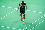 Players in action during the BWF Badminton World Championships at the Tianhe Gymnasium on August 2013 in Guangzhou, China. Photo by Victor Fraile
