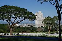 American Cemetery with view towards Fort Bonifacio, Manila, Philippines