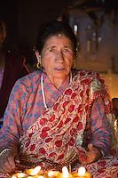 Old Woman Visiting Swayambhunath, Nepal