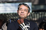 Ueno Zoo director Yutaka Fukuda speaks during press preview day of Giant Panda cub Xiang Xiang before public debut at Ueno Zoological Gardens in Tokyo, Japan on December 18, 2017. (Photo by Motoo Naka/AFLO)
