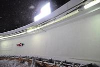 Night racing at the Men's Skeleton at the 2012 World Championship at , Lake Placid, New York