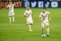 CARSON, CA - OCTOBER 14: Sacha Kljestan #16 of the Los Angeles Galaxy moves with the ball during a game between San Jose Earthquakes and Los Angeles Galaxy at Dignity Heath Sports Park on October 14, 2020 in Carson, California.
