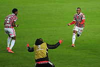 20th July 2021; Buenos Aires, Argentina;  Marquinhos of São Paulo, celebrates his goal during the match between Racing and São Paulo, for the Libertadores 2021 Round of 16, at Estádio Presidente Perón