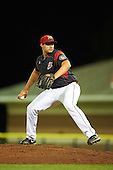 Batavia Muckdogs relief pitcher Joel Effertz (56) during a game against the Williamsport Crosscutters on September 2, 2016 at Dwyer Stadium in Batavia, New York.  Williamsport defeated Batavia 9-1. (Mike Janes/Four Seam Images)