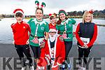 Daniel O'Connor, Helen Twomey, Santa, Ronan and Fiona O'Connor and Breda Lynch at the Fiona Moore Memorial 5k Fun Run in the Tralee Bay Wetlands on Sunday morning.