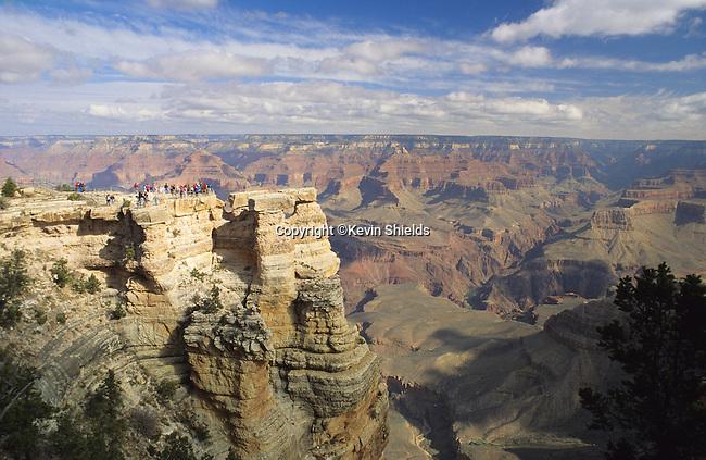 Sightseers at an overlook, Grand Canyon National Park, USA
