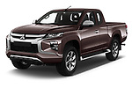 2020 Mitsubishi L200 Invite 4 Door Pick-up Angular Front automotive stock photos of front three quarter view
