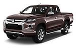 2020 Mitsubishi L200 Invite 4 Door Pick-up Angular Front automotive stock photos of front three quarter view