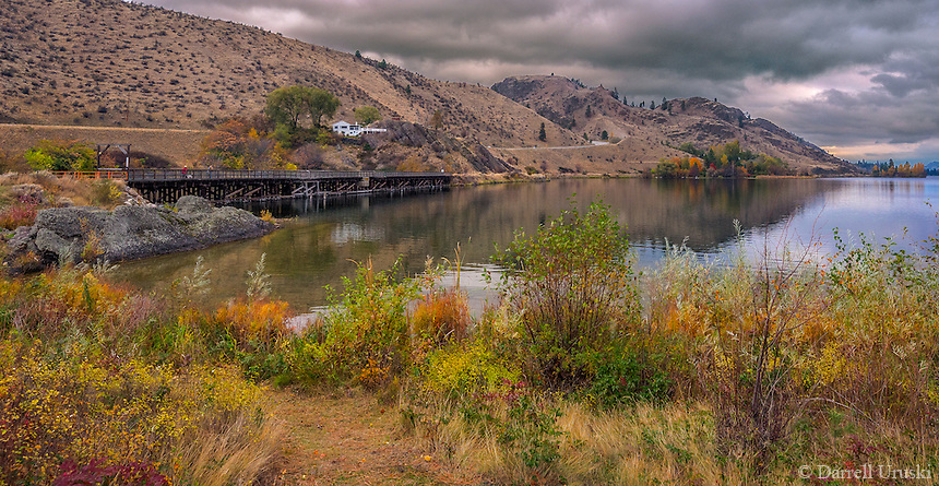 Fine Art Landscape Photograph of seasonal fall colours in the beautiful Okanagan Valley of British Columbia, Canada. <br />