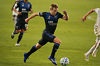 SAN JOSE, CA - SEPTEMBER 5: Tommy Thompson #22 of the San Jose Earthquakes during a game between Colorado Rapids and San Jose Earthquakes at Earthquakes Stadium on September 5, 2020 in San Jose, California.