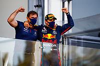 6th June 2021; F1 Grand Prix of Azerbaijan, Race Day;  Podium, PEREZ Sergio mex, Red Bull Racing Honda RB16B, portrait during the Formula 1 Azerbaijan Grand Prix 2021 at the Baku City Circuit