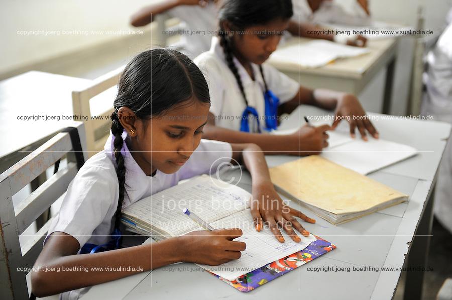 Sri Lanka Colombo, Samata Sarana, project by the catholic church for education of slum children / kirchliches Hilfsprojekt Samata Sarana, Bildung fuer Kinder aus Slums