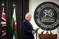 2017 11 09 Carwyn Jones press conference, Cathays Park, Cardiff, UK