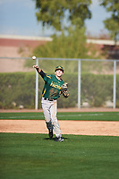 Derek Chavez (1) of Carson High School in Carson, California during the Under Armour All-American Pre-Season Tournament presented by Baseball Factory on January 14, 2017 at Sloan Park in Mesa, Arizona.  (Zac Lucy/MJP/Four Seam Images)