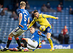 Rangers v St Johnstone…25.04.21   Ibrox.  Scottish Cup<br />Michael O'Halloran is blocked by Borna Barasic<br />Picture by Graeme Hart.<br />Copyright Perthshire Picture Agency<br />Tel: 01738 623350  Mobile: 07990 594431