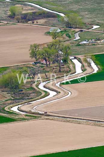 Irrigation ditch, Pueblo County, Colorado.  June 2011