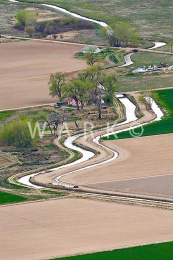 Irrigation ditch, Pueblo County, Colorado.  June 2011