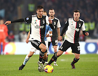 Football, Serie A: S.S. Lazio - Juventus Olympic stadium, Rome, December 7, 2019. <br /> Juventus' Rodrigo Bentancur (l) in action during the Italian Serie A football match between S.S. Lazio and Juventus at Rome's Olympic stadium, Rome on December 7, 2019.<br /> UPDATE IMAGES PRESS/Isabella Bonotto