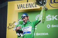 green jersey // Mark Cavendish (GBR/Deceuninck-Quick Step)<br /> <br /> Stage 10 from Albertville to Valence (190.7km)<br /> 108th Tour de France 2021 (2.UWT)<br /> <br /> ©kramon