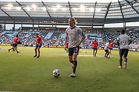 KANSAS CITY, KS - JULY 15: Walker Zimmerman #5 of the United States warming up before a game between Martinique and USMNT at Children's Mercy Park on July 15, 2021 in Kansas City, Kansas.