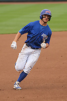 Iowa Cubs outfielder John Andreoli (6) heads towards third during a Pacific Coast League game against the Colorado Springs Sky Sox on May 10th, 2015 at Principal Park in Des Moines, Iowa.  Iowa defeated Colorado Springs 14-2.  (Brad Krause/Four Seam Images)