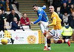 Motherwell v St Johnstone…20.10.18…   Fir Park    SPFL<br />Tony Watt's shot is saved by Trevor Carson<br />Picture by Graeme Hart. <br />Copyright Perthshire Picture Agency<br />Tel: 01738 623350  Mobile: 07990 594431