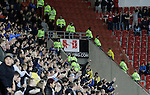 Rotherham 1 Sheffield Wednesday 2, 23/10/2015. New York Stadium, Championship. Second-half goals from Lucas Joao and Fernando Forestieri gave Sheffield Wednesday a derby victory at Rotherham. A lone Rotherham fans dances. Photo by Paul Thompson.