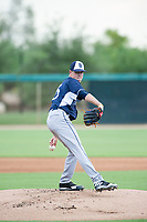 AZL Padres starting pitcher MacKenzie Gore (25) delivers a pitch to the plate against the AZL White Sox on July 31, 2017 at Camelback Ranch in Glendale, Arizona. AZL White Sox defeated the AZL Padres 2-1. (Zachary Lucy/Four Seam Images)