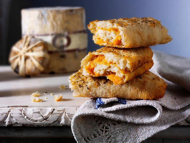 Stromboli bread filled with cheese