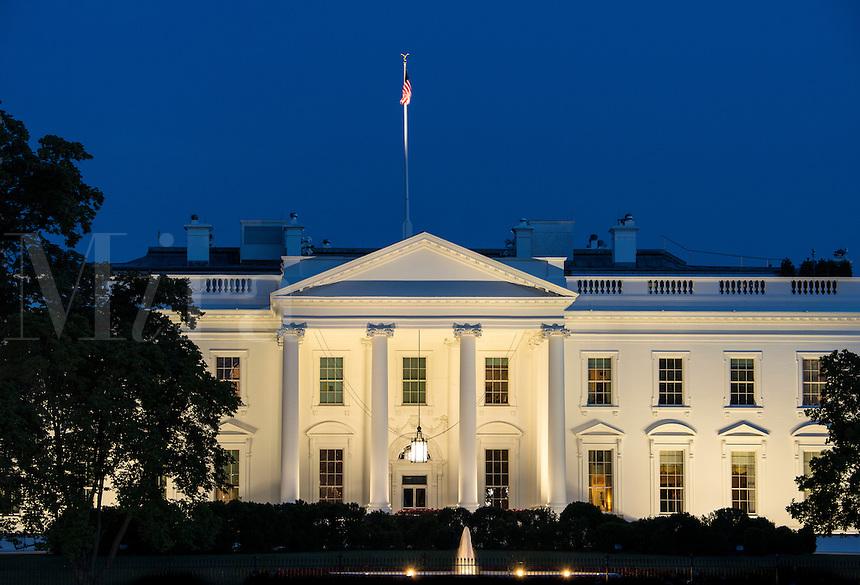 The White House, home of the United States President, Washington D.C., USA