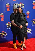 SANTA MONICA, USA. June 16, 2019: Ray J & Princess Love at the 2019 MTV Movie & TV Awards at Barker Hangar, Santa Monica.<br /> Picture: Paul Smith/Featureflash