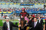 Midnight Aria(1) with Jockey Jesse M. Campbell aboard was victorious at the Queen's Plate  at Woodbine Raceway in Toronto, Canada on July 07, 2013.