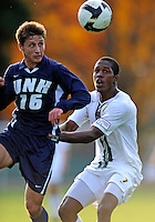 15 October 2008: University of Vermont Catamount forward T.J. Gore, a Junior from Macomb, MI, in action against the University of New Hampshire Wildcats at Centennial Field, in Burlington, Vermont. The Wildcats and Catamounts battled in overtime to a 0-0 tie...Mandatory Photo Credit: Ed Wolfstein Photo