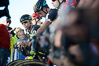 Sven Nys on the start-grid of the race he won an amazing 9 (!) times in the past<br /> <br /> elite men's race<br /> Koppenbergcross 2015