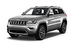 2018 Jeep Grand-Cherokee Limited 5 Door SUV angular front stock photos of front three quarter view